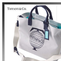 Tiffany & Co Unisex Canvas A4 Totes