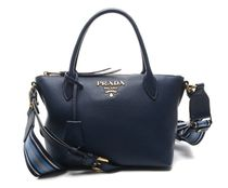 PRADA Studded Chain Plain Leather Elegant Style Shoulder Bags