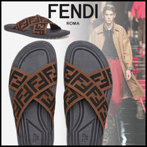FENDI Street Style Leather Sport Sandals Sports Sandals