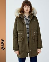 PULL & BEAR Casual Style Faux Fur Parkas