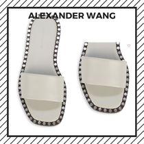 Alexander Wang Open Toe Casual Style Studded Street Style Plain Leather