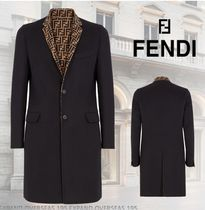 FENDI Plain Trench Coats