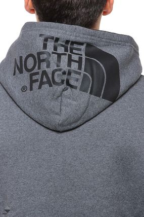 THE NORTH FACE Hoodies Pullovers Street Style Long Sleeves Plain Cotton Hoodies 10
