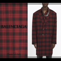 BALENCIAGA Other Check Patterns Wool Bi-color Long Oversized