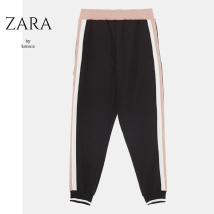 f1062747 ... ZARA More Pants Stripes Casual Style Street Style Plain Pants ...