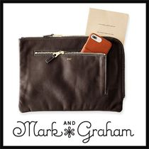 marc AND graham Plain Leather Clutches