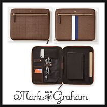 marc AND graham Stripes Plain Leather Clutches