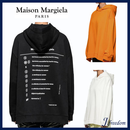 Maison Martin Margiela Hoodies Unisex Street Style Long Sleeves Cotton Hoodies