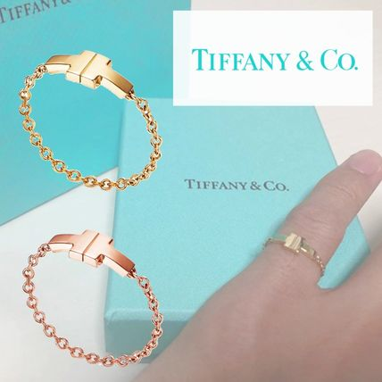 4daefcc6e Tiffany & Co Tiffany T Chain 18K Gold Elegant Style Rings (GRP10514 ...