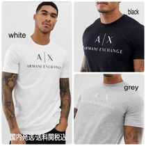 A/X Armani Exchange Crew Neck Street Style Plain Cotton Short Sleeves