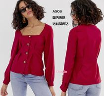 ASOS Casual Style Linen Long Sleeves Plain With Jewels