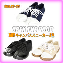 OPEN THE DOOR Casual Style Street Style Plain Low-Top Sneakers