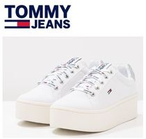 Tommy Hilfiger Platform Round Toe Lace-up Casual Style Unisex