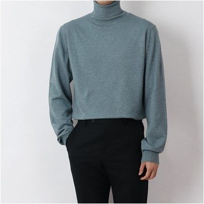 SCENERITY Sweaters Pullovers Long Sleeves Plain Sweaters