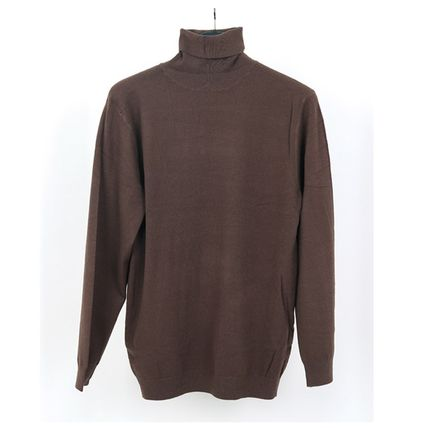 SCENERITY Sweaters Pullovers Long Sleeves Plain Sweaters 15