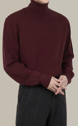SCENERITY Sweaters Pullovers Long Sleeves Plain Sweaters 7