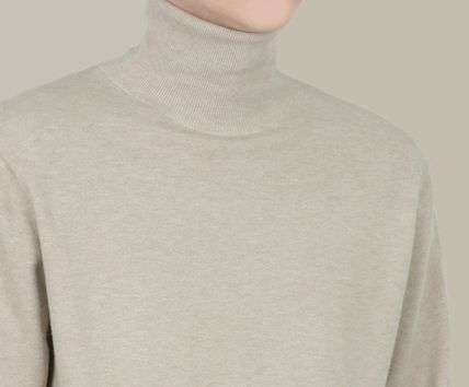 SCENERITY Sweaters Pullovers Long Sleeves Plain Sweaters 11