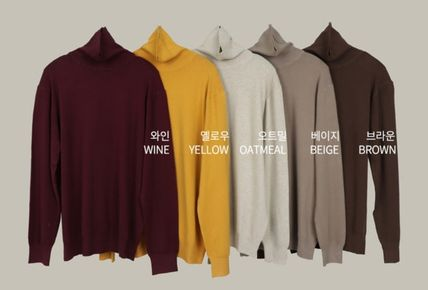 SCENERITY Sweaters Pullovers Long Sleeves Plain Sweaters 19