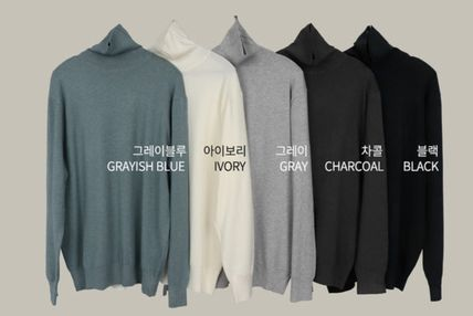 SCENERITY Sweaters Pullovers Long Sleeves Plain Sweaters 20