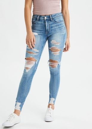 American Eagle Outfitters 2018-19AW Denim Street Style Long Jeans