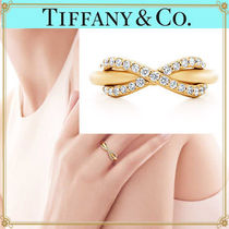 Tiffany & Co TIFFANY INFINITY 18K Gold Elegant Style Rings