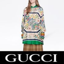 GUCCI Flower Patterns Silk Shirts & Blouses