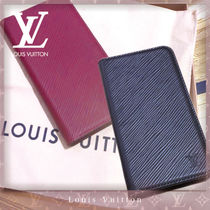 Louis Vuitton EPI Unisex Plain Leather Smart Phone Cases