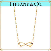 Tiffany & Co TIFFANY INFINITY 18K Gold Elegant Style Necklaces & Pendants
