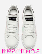 Dolce & Gabbana Casual Style Unisex Leather Low-Top Sneakers
