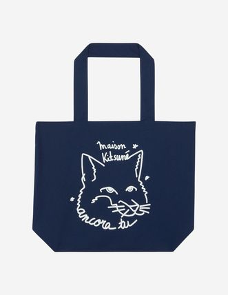 Casual Style Unisex A4 Other Animal Patterns Totes