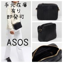 ASOS Casual Style Faux Fur Other Animal Patterns Shoulder Bags
