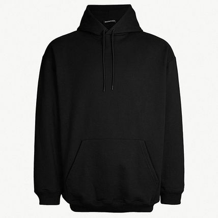 BALENCIAGA Hoodies Long Sleeves Plain Cotton Hoodies 2