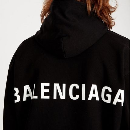 BALENCIAGA Hoodies Long Sleeves Plain Cotton Hoodies 5