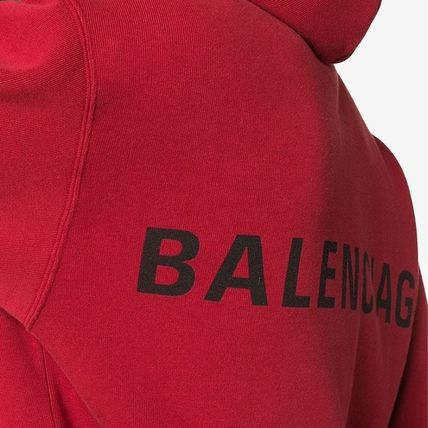 BALENCIAGA Hoodies Long Sleeves Plain Cotton Hoodies 9