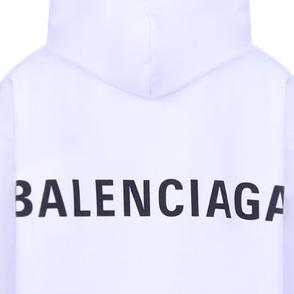 BALENCIAGA Hoodies Long Sleeves Plain Cotton Hoodies 12