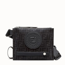FENDI Blended Fabrics Street Style Crossbody Bag Logo