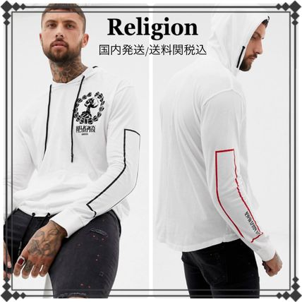 Religion Hoodies Street Style Long Sleeves Plain Cotton Hoodies