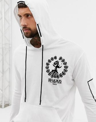 Religion Hoodies Street Style Long Sleeves Plain Cotton Hoodies 4