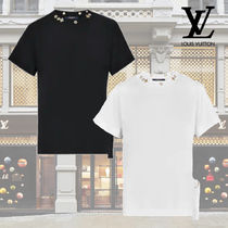 Louis Vuitton Crew Neck Cotton Medium Short Sleeves T-Shirts