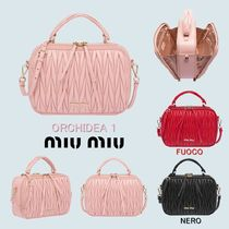 MiuMiu Casual Style 2WAY Leather Shoulder Bags