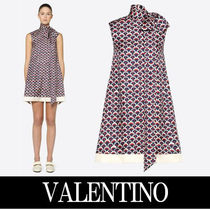 VALENTINO Crew Neck Short A-line Silk Sleeveless Home Party Ideas