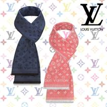 Louis Vuitton MONOGRAM Monogram Unisex Cotton Fringes Scarves