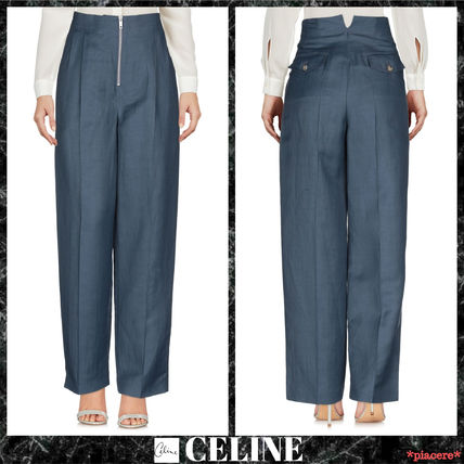 CELINE Women s Blue Pants  Shop Online in US  2dbd74fc73380