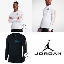Nike AIR JORDAN Unisex Street Style Collaboration Long Sleeves Plain Cotton