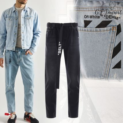 Off-White Skinny Fit Denim Street Style Skinny Fit Jeans & Denim