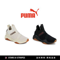 PUMA Round Toe Rubber Sole Casual Style Street Style Plain
