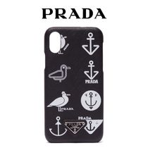 PRADA Other Animal Patterns Leather Smart Phone Cases