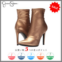 Jessica Simpson Plain Leather Pin Heels Party Style High Heel Boots