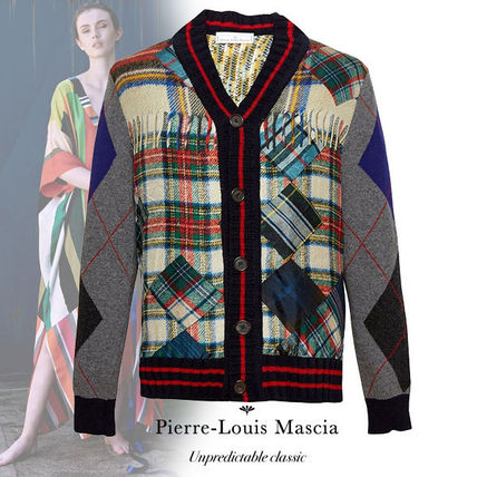 Other Check Patterns Wool Cardigans
