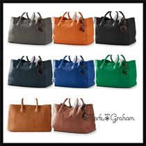 marc AND graham Casual Style Plain Leather Handbags